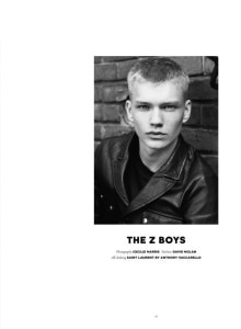 BOYS BY GIRLS MAGAZINE fall/winter 2017   Photography Cecilie Harris   Styling David Nolan
